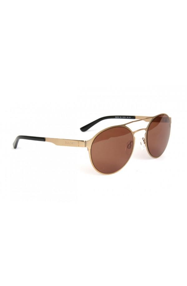 e59bd58fe8 Gafas de sol estilo round. Montura metálica color dorado mate con doble  puente. Cristal color marrón.